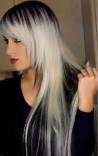 black at root of hair black and platinum hair black blonde hair pinterest