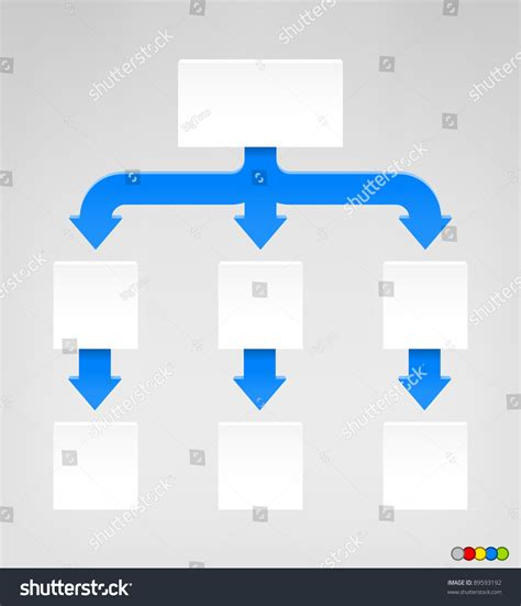 eps format size empty diagram eps 8 format high stock vector 89593192