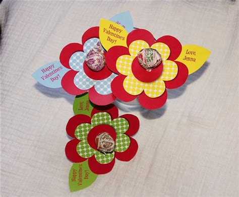 valentine s day lollipop flowers with free printables a items similar to flower lollipop personalized valentine s