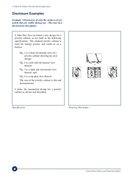 patent specification template a guide to filing for a design patent via uspto