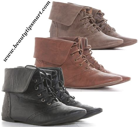 black and brown leather flat ankle boots collection 2017