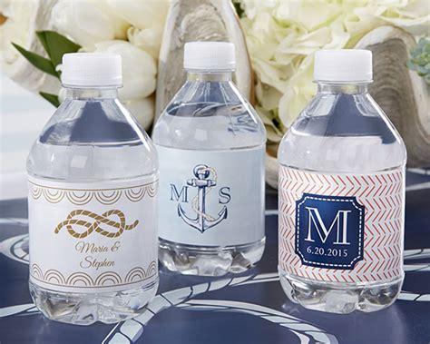 Souvenir Hers Goodies Mini Koper nautical wedding water bottle labels my wedding favors