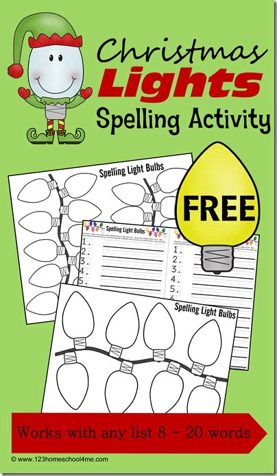 printable christmas spelling list free christmas spelling pages free homeschool deals