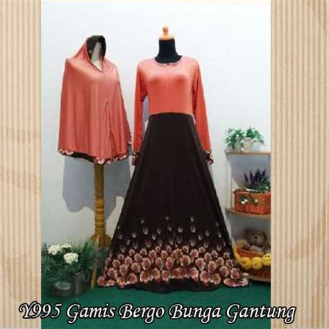 Jersey Mawar baju gamis bergo mawar y995 jersey busana muslim modern