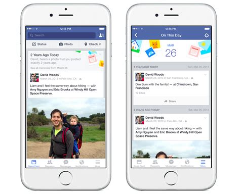 facebook themes for iphone introducing on this day a new way to look back at photos