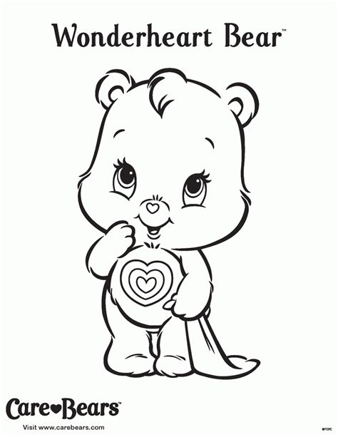 care bear coloring pages pdf carebears coloring home