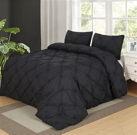black coverlet twin luxurious duvet cover set ᗑ black black pinch pleat 2 3pcs ᗜ Lj twin queen king twin queen king