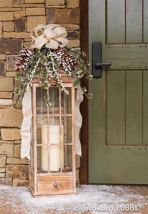 turn outdoor lanterns   winter focal piece