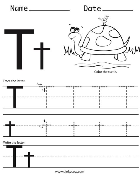 Letter T Worksheet Kindergarten by Letter A Handwriting Worksheets Kindergarten Alphabet