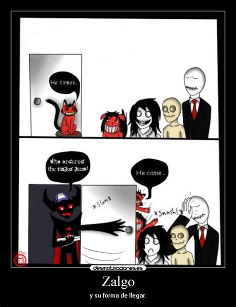 Zalgo Meme - zalgo vs slender man creepypasta memes