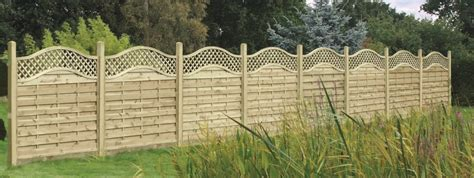Curved Fence Top Trellis Wooden Omega Lattice Topped Panelss Duncombe Sawmill Local And Uk Delivery From