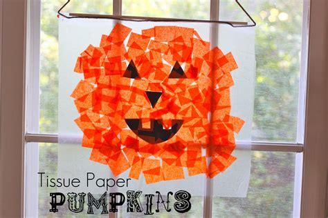 Tissue Paper Crafts For Preschoolers - tissue paper pumpkins tutorial smashed peas carrots
