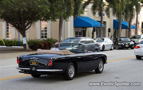 Aston Martin Of Palm by Aston Martin Db5 Spotted In Palm Florida On 12 30 2014