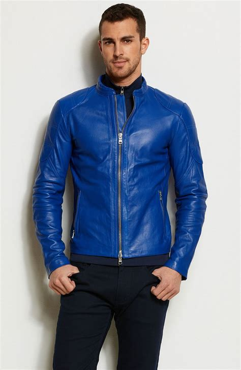 jacket color pop color leather moto jacket jackets blazers mens