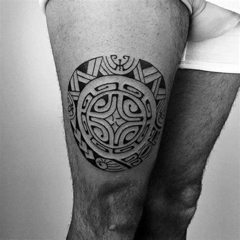 tribal tattoos on thighs 30 tribal thigh tattoos for manly ink ideas