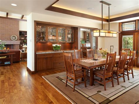 formal craftsman style dining room hgtv