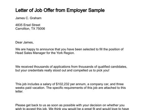 brilliant ideas of samples of job offer decline letters about