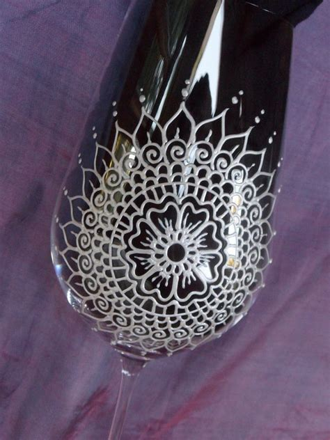 henna design on glass 17 best images about art wine glasses on pinterest