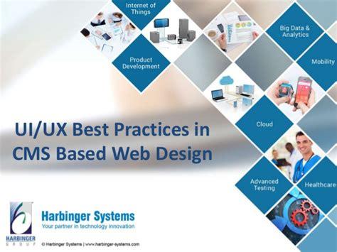 6 ux web design best practices for a great website webinar ui ux best practices in cms based web design