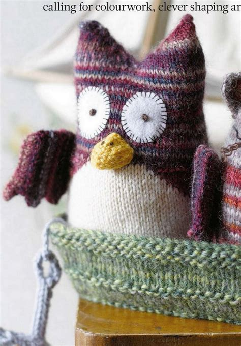 knitting pattern owl toy free knitted toy owl patterns images