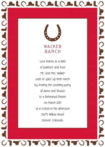 Western Wedding Invitation Sayings