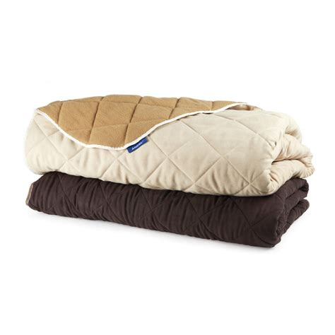ancol sleepy paws quilted sofa throw chocolate brown