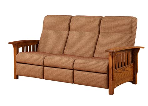 mission style loveseat recliner mission style reclining sofa town country furniture