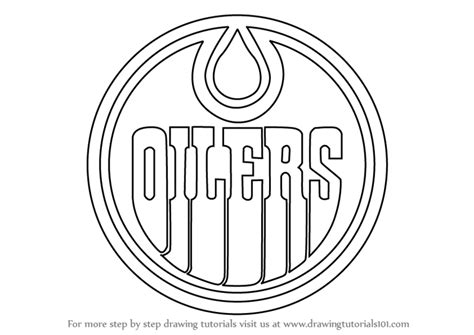 hockey coloring pages oilers learn how to draw edmonton oilers logo nhl step by step
