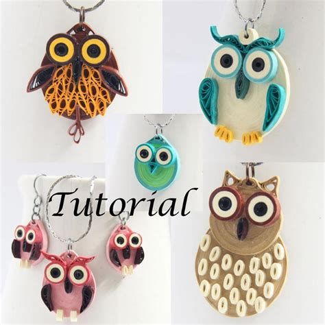 quilling paper earrings tutorial video paper quilled owl jewelry tutorial by honeysquilling craftsy