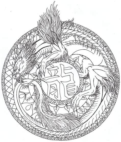 dragon mandala coloring pages dragon mandala by airegon on deviantart