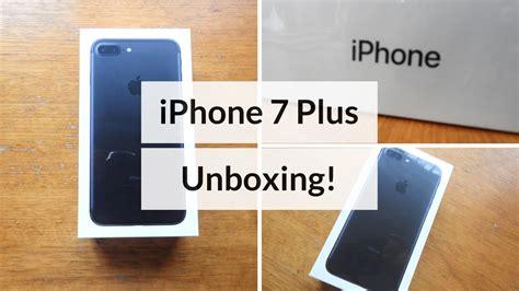 iphone 7 plus unboxing matte black 128 gb