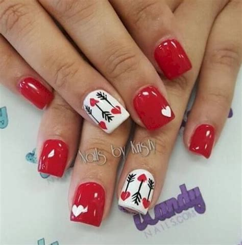 gorgeous valentines day nail ideas  red nails