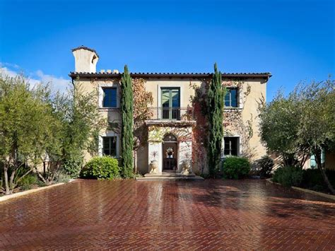Tuscan Style Homes Plans by Tuscan Style Villa In Montecito Home