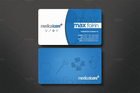 medical business card business card templates on