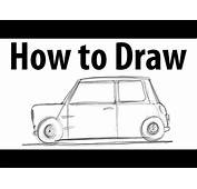 How To Draw A Mini Cooper Classic  Sketch It Quick