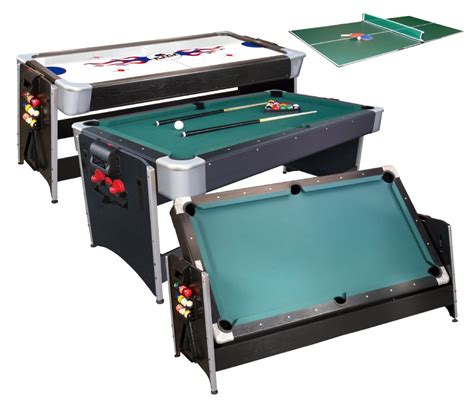 Set Sport Flow Dc 3in1 cat pockey 3 in 1 pool air hockey ping pong table at gametables4less model 64 1046
