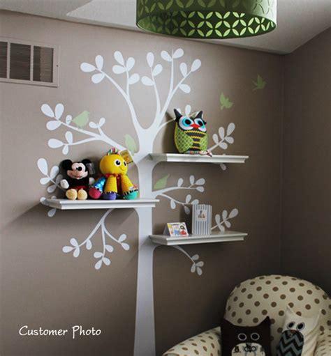 Baby Nursery Wall Decor Ideas Wall Decor And Shelving Tree Baby Nursery Home Lilys Design Ideas