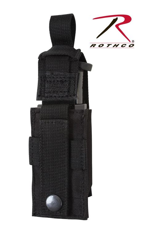 Molle 9 Mm Mag Pouch Black molle single pistol mag pouch w insert black or coyote brown 9mm grunt