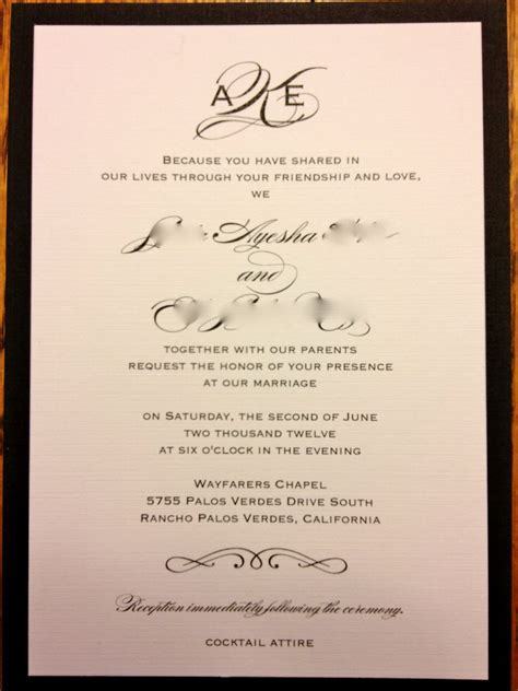 Personal Wedding Invitation by Personal Wedding Invitations Card Decorating Of