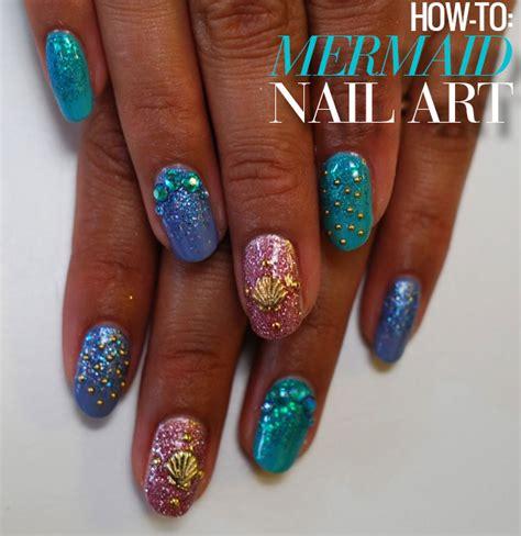 design nail art games beauty buzz how to diy mermaid nail art 50 best braids