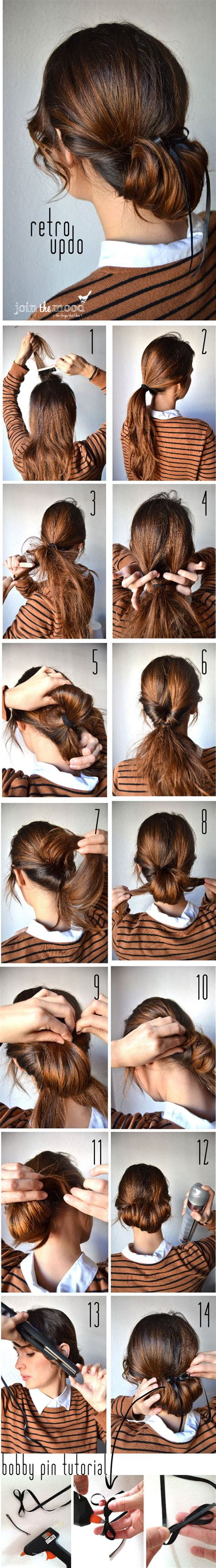 easy vintage hairstyles 20 easy hairstyle tutorials for your everyday look