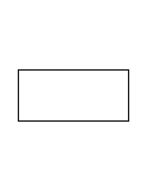 rectangle square flashcard of a rectangle clipart etc