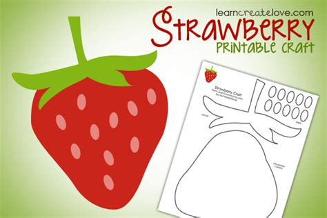 crafts printables printable strawberry craft