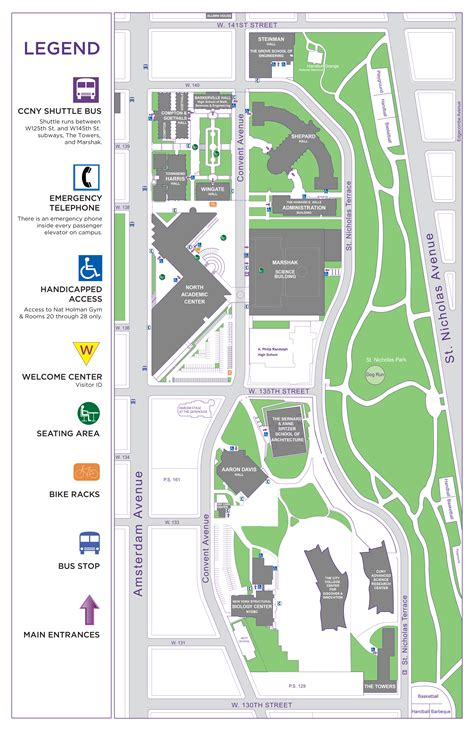 city college map ccny cus map the city college of new york