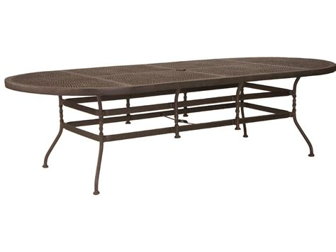 slippery rock lawn and garden oval cast aluminum patio table woodard new orleans oval