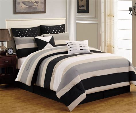 black gray comforter sets 8 piece preston black and gray comforter set