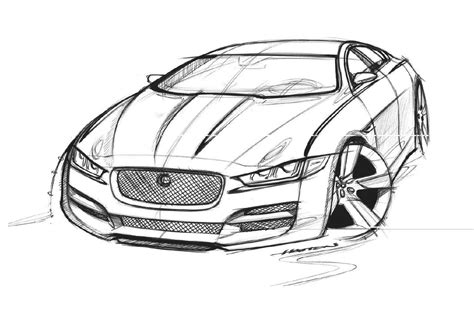 Jaguar Revisits Compact Segment With Xe Drawing Sketch