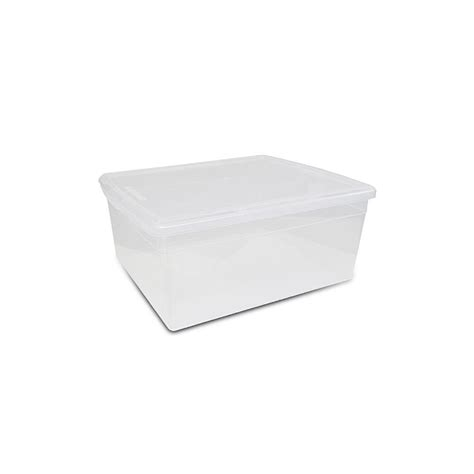 Boxy Sweater Premium Jumbo hdx 20 qt premium sweater box in clear pc151306 001 the home depot