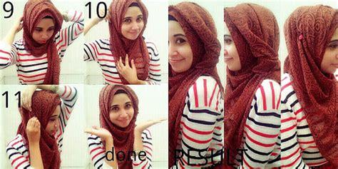 tutorial hijab syar i praktis hijab praktis anti tembem plus tutorial metropolis style