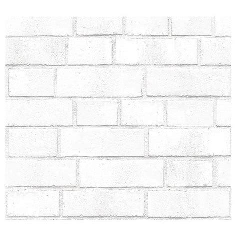 Stick On Backsplash Tiles by Devine Color Textured Brick Peel Amp Stick Wallpaper White
